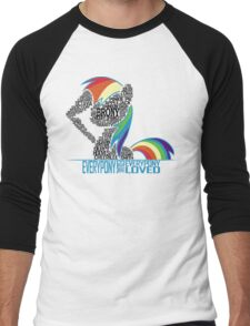 Brony Typography (white) Men's Baseball ¾ T-Shirt