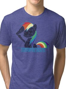 Brony Typography (white) Tri-blend T-Shirt