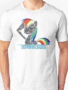 Brony Typography (white) Unisex T-Shirt