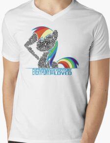 Brony Typography (white) Mens V-Neck T-Shirt