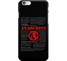 Anarchist Quotes iPhone Case/Skin