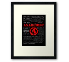 Anarchist Quotes Framed Print