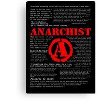Anarchist Quotes Canvas Print