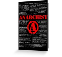 Anarchist Quotes Greeting Card