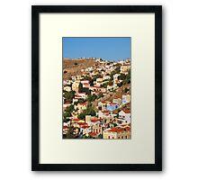 Yialos town, Symi island Framed Print
