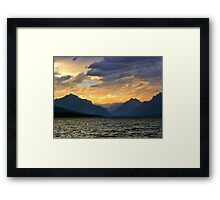 Lake MacDonald Evening Framed Print