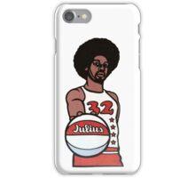 "Julius ""Dr. J"" Erving Philadelphia 76ers Cartoon iPhone Case/Skin"