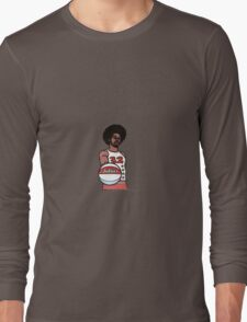 "Julius ""Dr. J"" Erving Philadelphia 76ers Cartoon Long Sleeve T-Shirt"