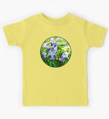 Purple Irises in Suburbs Kids Tee