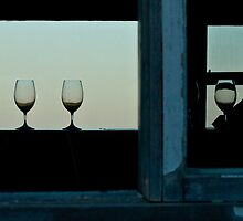 Wine glasses at Mt Jagged by Canbies