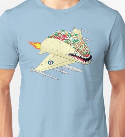 Taco Fighter Jet Unisex T-Shirt