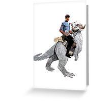 Spock rides the Tantan Greeting Card