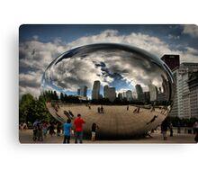 Skyline Bubble Canvas Print