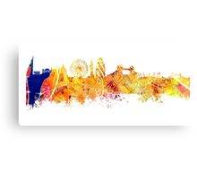 London skyline map city Tower Canvas Print