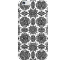 Black and White Damask Pattern iPhone Case/Skin