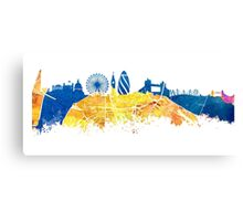 London skyline map city Tamiza Canvas Print