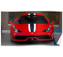 Ferrari 458 Speciale Front Face Poster