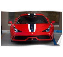 Ferrari 458 Speciale Front Face Poster