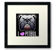 i love pitbul Framed Print