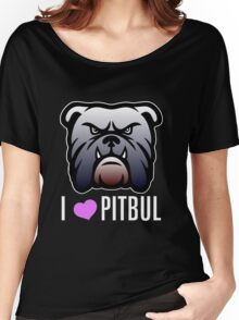 i love pitbul Women's Relaxed Fit T-Shirt
