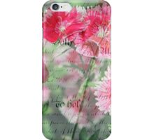 Pink Flower Antique Collage iPhone Case/Skin