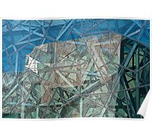 Federation Square Reflection Poster