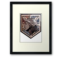 The Wall That Protects Us. Framed Print