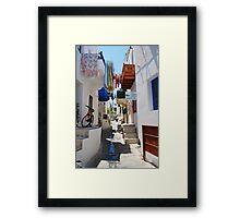 Mandraki town, Nisyros Framed Print
