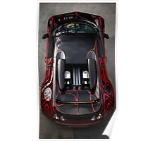 Birds Eye View of the Bugatti Veyron! Poster