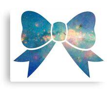 Blue Galaxy Bow Canvas Print