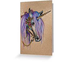 The Magical Faery Unicorn Greeting Card