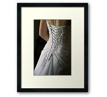 Wedding Dress Framed Print