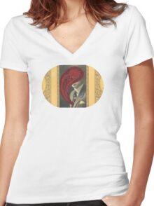 Eyeball Kid Women's Fitted V-Neck T-Shirt