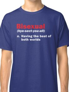 Funny Bisexual Dictionary Definition Quote Gay Phrase Classic T-Shirt