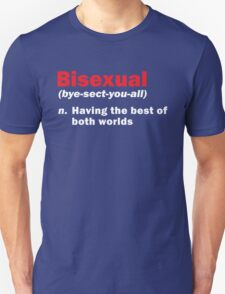 Funny Bisexual Dictionary Definition Quote Gay Phrase T-Shirt