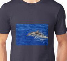 Wild free dolphin playing Unisex T-Shirt