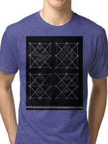 HOLOGRAM SAK YANT 4 UP Tri-blend T-Shirt
