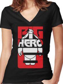 Fat Robot Buddy Women's Fitted V-Neck T-Shirt