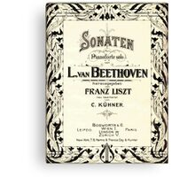 Beethoven's Sonata 1915 Canvas Print