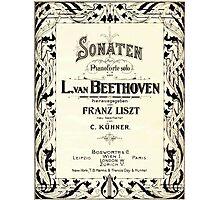 Beethoven's Sonata 1915 Photographic Print