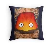 Studio Ghilbi Illustration: CALCIFER #3 Throw Pillow