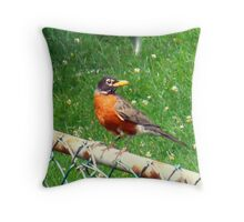 Bird on my Fence Throw Pillow