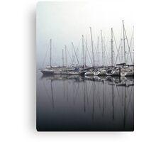 Foggy Yacht Club Canvas Print