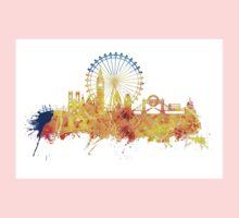 London skyline map city yellow Kids Clothes