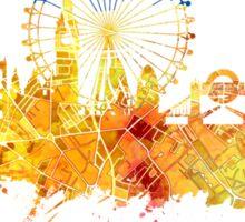 London skyline map city yellow Sticker