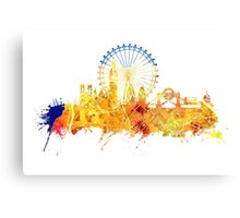 London skyline map city yellow Canvas Print