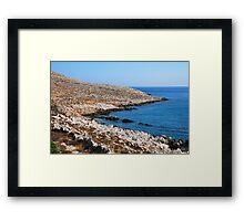 Halki coastline Framed Print