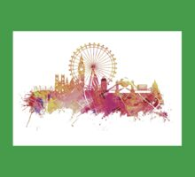 London skyline map city pink Kids Clothes