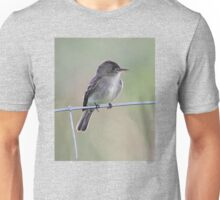 Tropical Pewee on Wire Unisex T-Shirt