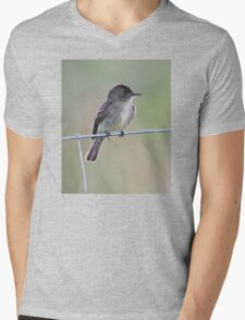 Tropical Pewee on Wire Mens V-Neck T-Shirt